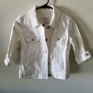 Loft white jean jacket